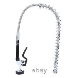 12 Commercial Pre-Rinse Sink Faucet Pull Kitchen Down Sprayer Mixer Wall Tap