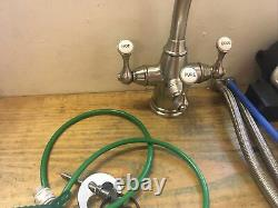 1420 Etruscan Perrin & Rowe Nickel Filter Lever Kitchen Mixer Taps R11