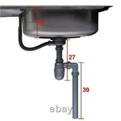 1.0 Square Large Super Deep Single Bowl Stainless Steel Undermount Kitchen Sink
