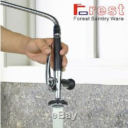 28Single Handle Pull down Chrome High Pressure Kitchen Brass sink Mixer Faucet
