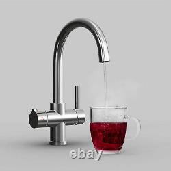 3 Way Instant Boiling Water Kitchen Tap Cold Water Filter & Digital Heating Tank