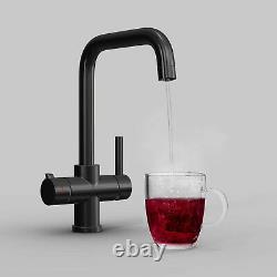 3 Way Matte Black Instant Boiling Water Tap Water Filter & Digital Heating Unit