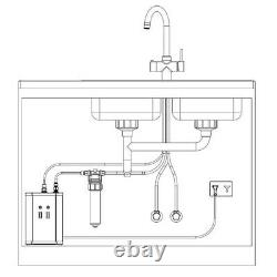 3 in 1 instant boiling water tap with cold, hot and filtered boiling water