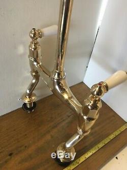 4193 Perrin & Rowe Brass Ionian Lever Kitchen Mixer Taps- Ideal Belfast Sink