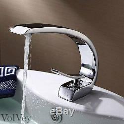 8 Bathroom Sink Faucet Chrome Lavatory Vessel Modern One Hole/Handle Mixer Taps