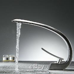 8 Bathroom Sink Faucets Brushed Nickel One Hole/Handle Lavatory Mixer Taps