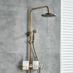 8 Wall Mount Shower Faucet Set Rain Head Combo Hand Shower Tub Filler Mixer Tap