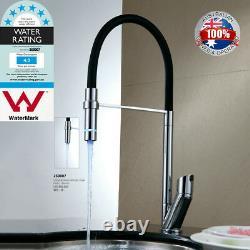 AU WELS Pull Down Kitchen Basin Sink Chrome Black Mixer Water Deck Mount Taps