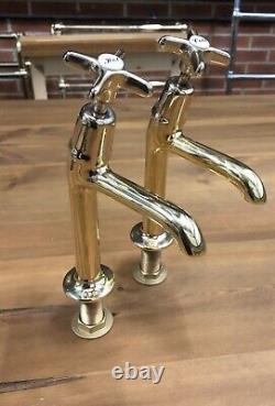 Antique Brass Belfast Sink Kitchen Taps Reclaimed Refurbished Stunning