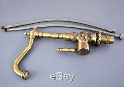 Antique Brass Carved Bathroom / Kitchen Sink Swivel Faucet Mixer Tap fsf128