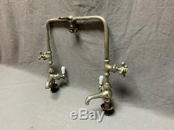 Antique Faucet Bridge Mixer Sink Vtg Barber Bathroom Kitchen Nickel Brass 26-20J