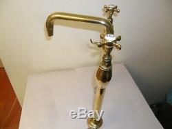 Antique kitchen taps solid brass original vintage reclaimed refurbished old taps