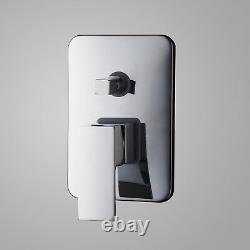 Bathroom Sink Bathtub Wide Spout Waterfall Faucet & Hand Shower Spray Mixer Tap