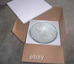 Bathroom glass basin sink with matching round Brass mixer Waterfall Monobloc tap