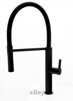 Black Kitchen Mixer Tap Faucet Sink Swivel Flexible Spout 360` Brass (183)