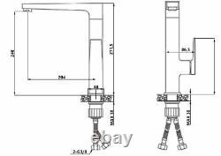Black/Rose Gold Brass Kitchen Sink Faucet Tall Elegant Mixer Tap