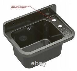Black basin sink laundry utility garage outdoor indoor + pull out mixer tap