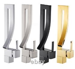 Black or Gold Kitchen Bathroom Faucet Single Hole Sink Basin Mixer Brass Tap New