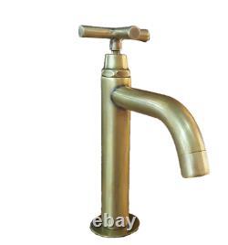 Brass Basin Sink Kitchen Faucet Tap Cross Spigot Vintage Water Home Decor Living