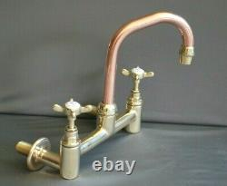 Brass & Copper Mixer Taps Wall Mounted Taps Ideal Belfast Sink Refurbed Taps