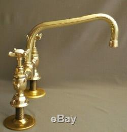 Brass Kitchen Mixer Taps 9 Spout Deal Belfast Sink Reclaimed & Refurbed Taps