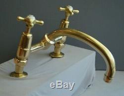 Brass Kitchen Mixer Taps Deal Belfast Sink Reclaimed & Fully Refurbished Taps