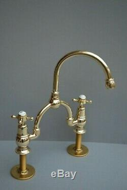 Brass Kitchen Mixer Taps Ideal 4 Belfast Sink Reclaimed & Fully Refurbished Taps