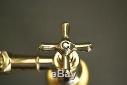 Brass Kitchen Mixer Taps Ideal For Belfast Sink Reclaimed Fully Refurbed Taps