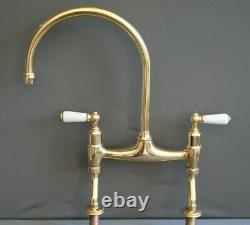Brass Mixer Taps Taps Ideal 4 Belfast Kitchen Sink Fully Refurbed Taps 9 Spout