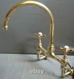 Brass Mixer Taps Wall Mounted Taps Ideal Belfast Sink Fully Refurbished Taps