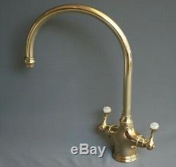 Brass Mono Mixer Lever Taps Kitchen Mixer Ideal 4 Belfast Sink Fully Refurbished