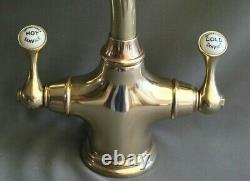 Brass Mono Mixer Lever Taps Kitchen Mixer Ideal Belfast Sink Fully & Refurbed