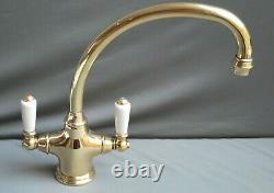 Brass Mono Mixer Taps Kitchen Mixer Ideal Belfast Sink Fully Refurbed 8 Spout