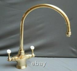 Brass Mono Mixer Taps Kitchen Mixer Ideal Belfast Sink Fully Refurbed 9 Spout
