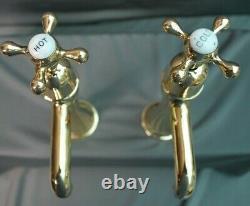 Brass Pillar Taps Belfast Kitchen Sink Taps Reclaimed & Refurbished Brass Taps