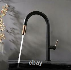 Brass kitchen Faucet Pull Out Single Level Mixer Tap 360 Rotation 2-Way Sprayer