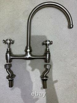 Bristan 1901 Mono Kitchen Sink Mixer Tap Double knob Swivel Deck Mounted