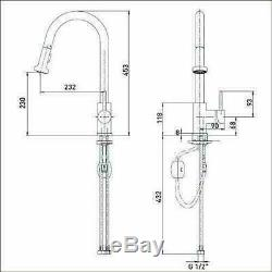 Bristan APR PULLSNK C Apricot Sink Mixer Tap with Pull Out Pull Out Spray Chrome