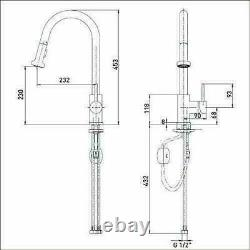 Bristan APR PULLSNK C Apricot Sink Mixer Tap with Pull Out Spray Chrome