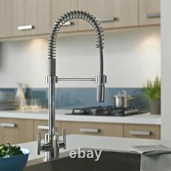 Bristan Artisan Professional Kitchen Sink Mixer Tap Pull Out Spray Chrome