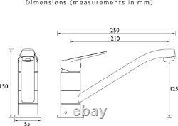 Bristan Cinnamon Kitchen Sink Mixer Tap Easyfit Modern Round Single Lever Chrome