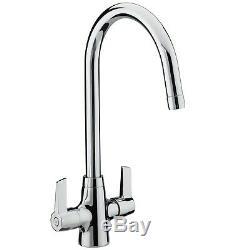 Bristan Echo Kitchen Sink Mixer Tap Double Lever Modern EasyFit Chrome