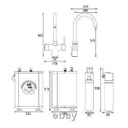 Bristan Kitchen Mixer Tap 3 in 1 Rapid Boiling Water Tank+ Filter Modern Chrome