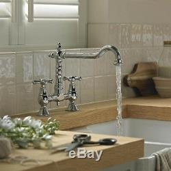 Bristan Traditional Colonial Bridge Sink Mixer Tap 2 tap hole Chrome K BRSNK C