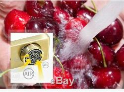 Brushed Gold Kitchen Sink Faucet Mixer Seven Letter Design Water Tap SUS304