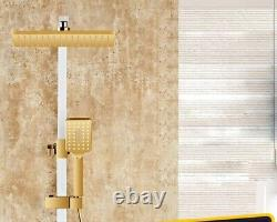 Brushed gold Bath Set Temperature Digital Shower Faucet Set Tub Mixer Tap+Hand