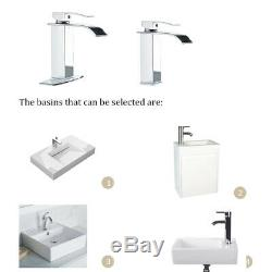 Chrome Waterfall Bathroom Sink Faucet Basin Mixer With Cover Plate Brass Tap