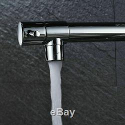 Commercial LED Kitchen Sink Faucet Pre-Rinse Pull Down Sprayer Chrome Mixer Tap