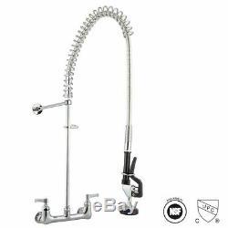 Commercial Pre-Rinse Kitchen Sink Faucet Down Sprayer Mixer Tap Dishwashin