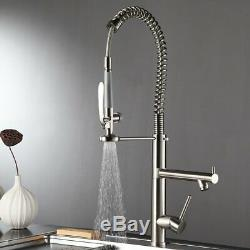 Commercial Pre-rinse Kitchen Sink Faucet Pull Down Spring Spray Mixer Tap Swivel